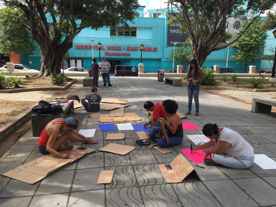 Protesta plaza humacao 1